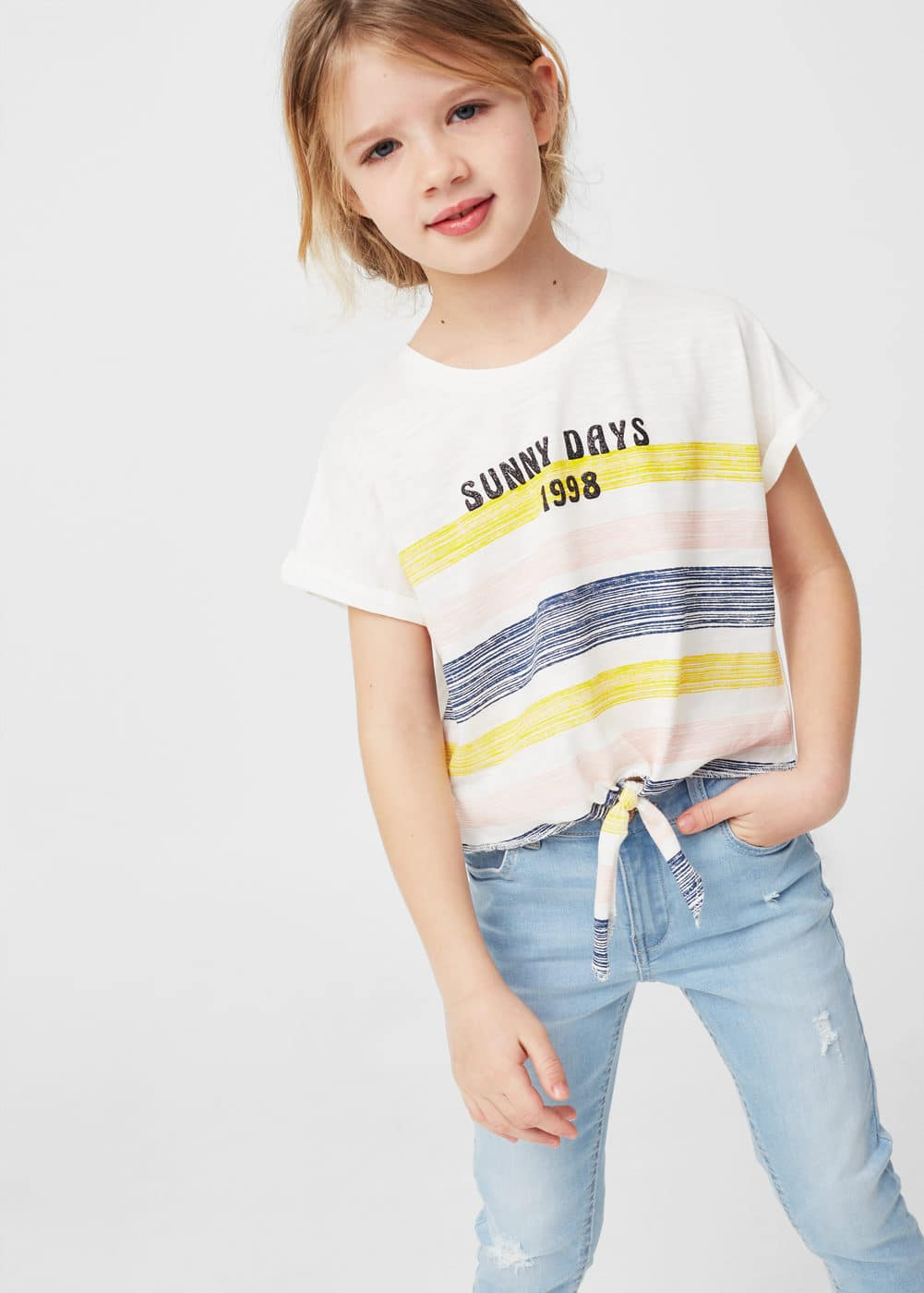 Knot crop t-shirt | MANGO KIDS