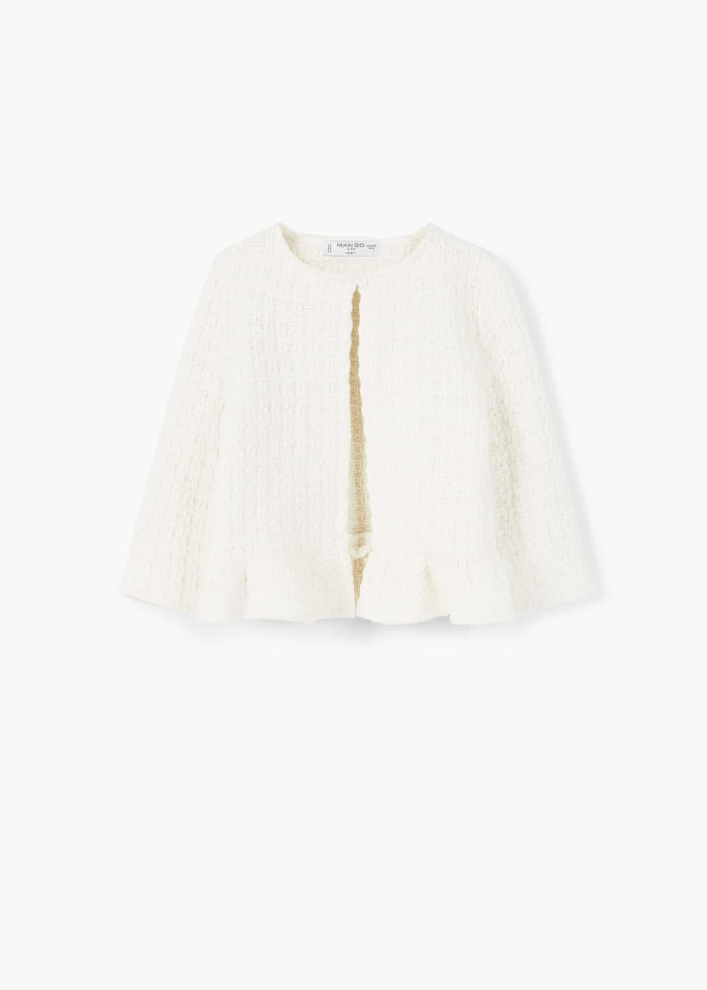 Textured cotton-blend jacket | MANGO KIDS