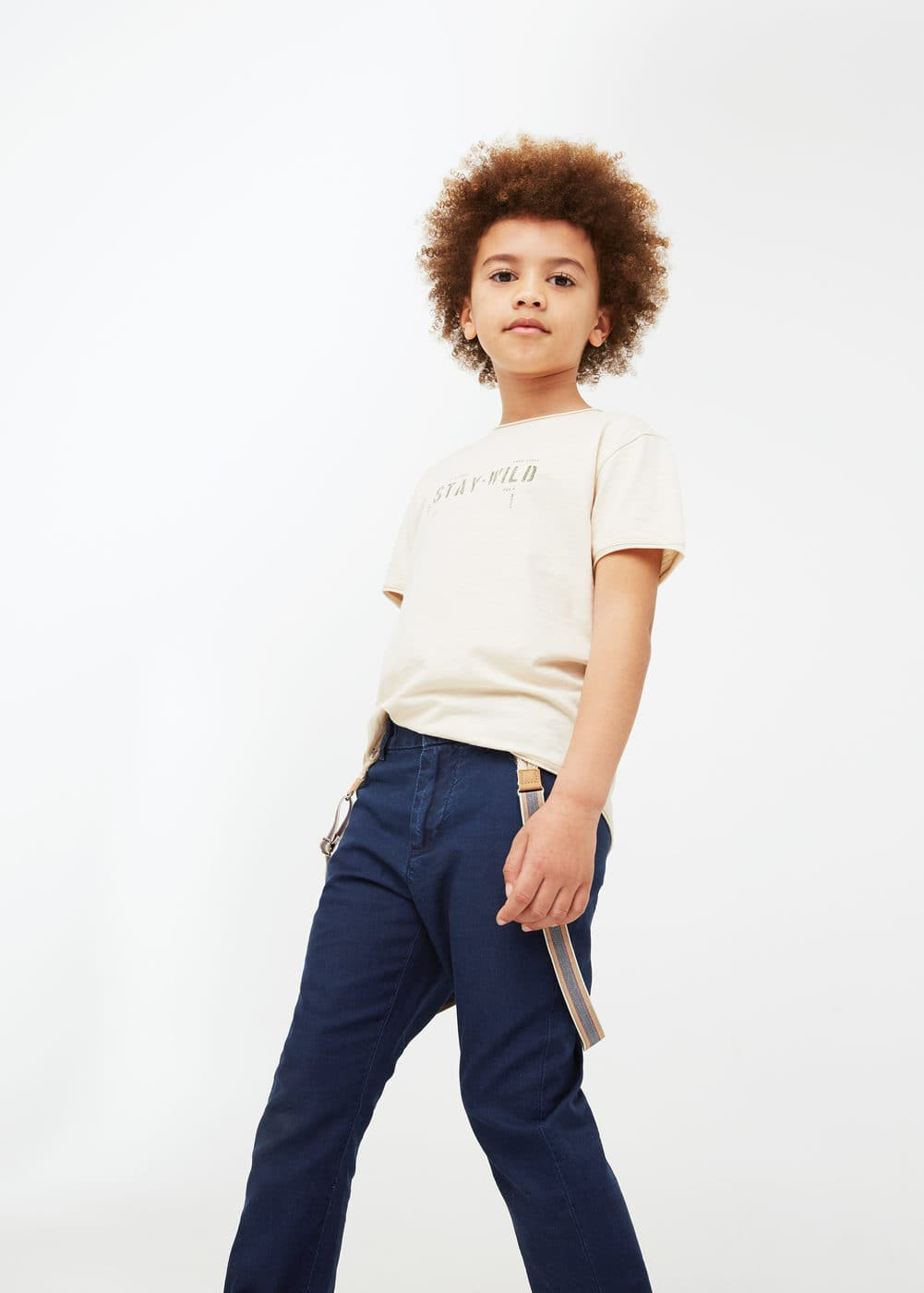 Braced trousers | MANGO KIDS