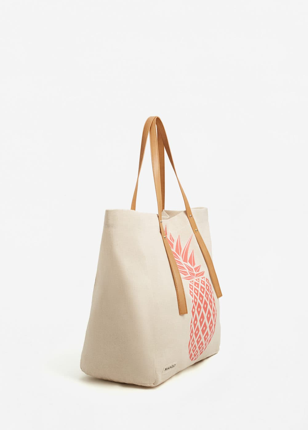 Printed cotton bag | MANGO