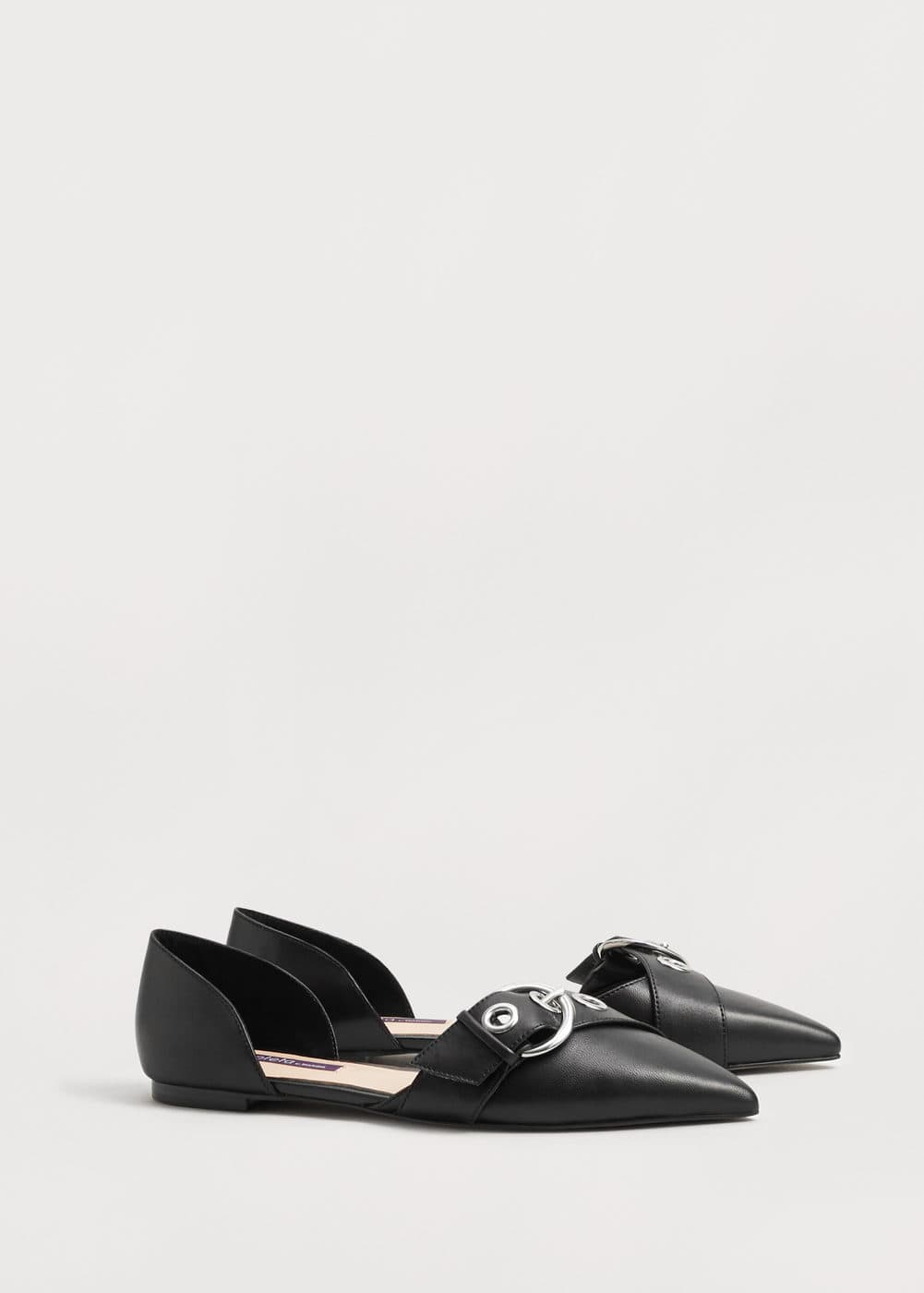 Buckle leather shoes | MANGO