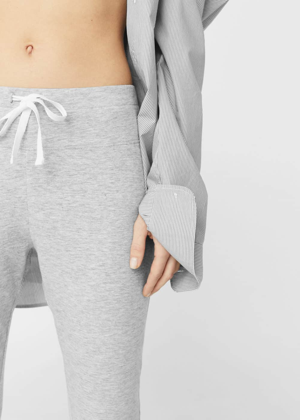Flecked cotton trousers | MANGO