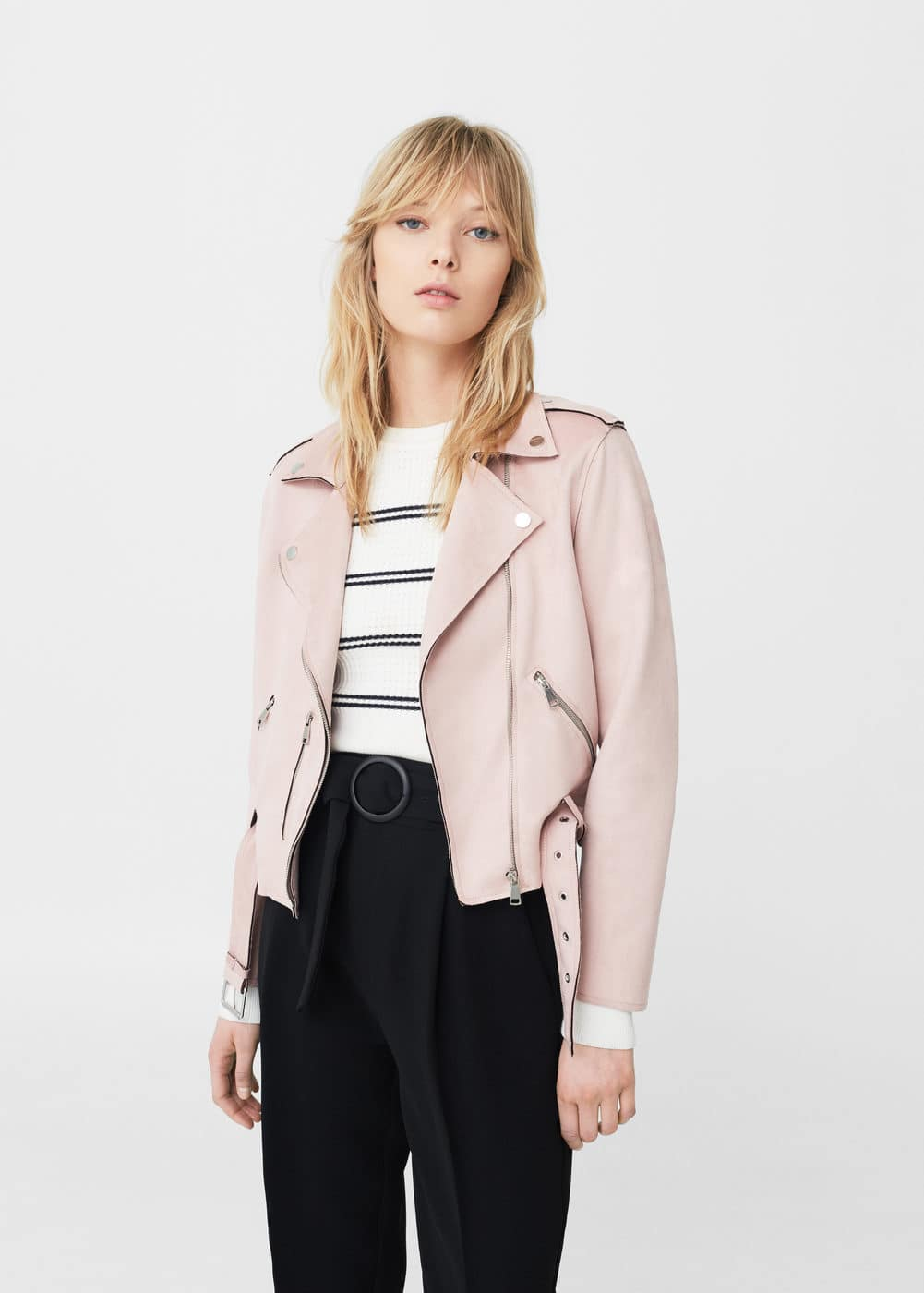 Crop biker jacket | MANGO