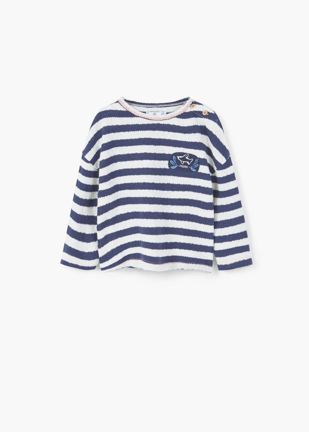 Textured striped sweatshirt | MANGO KIDS