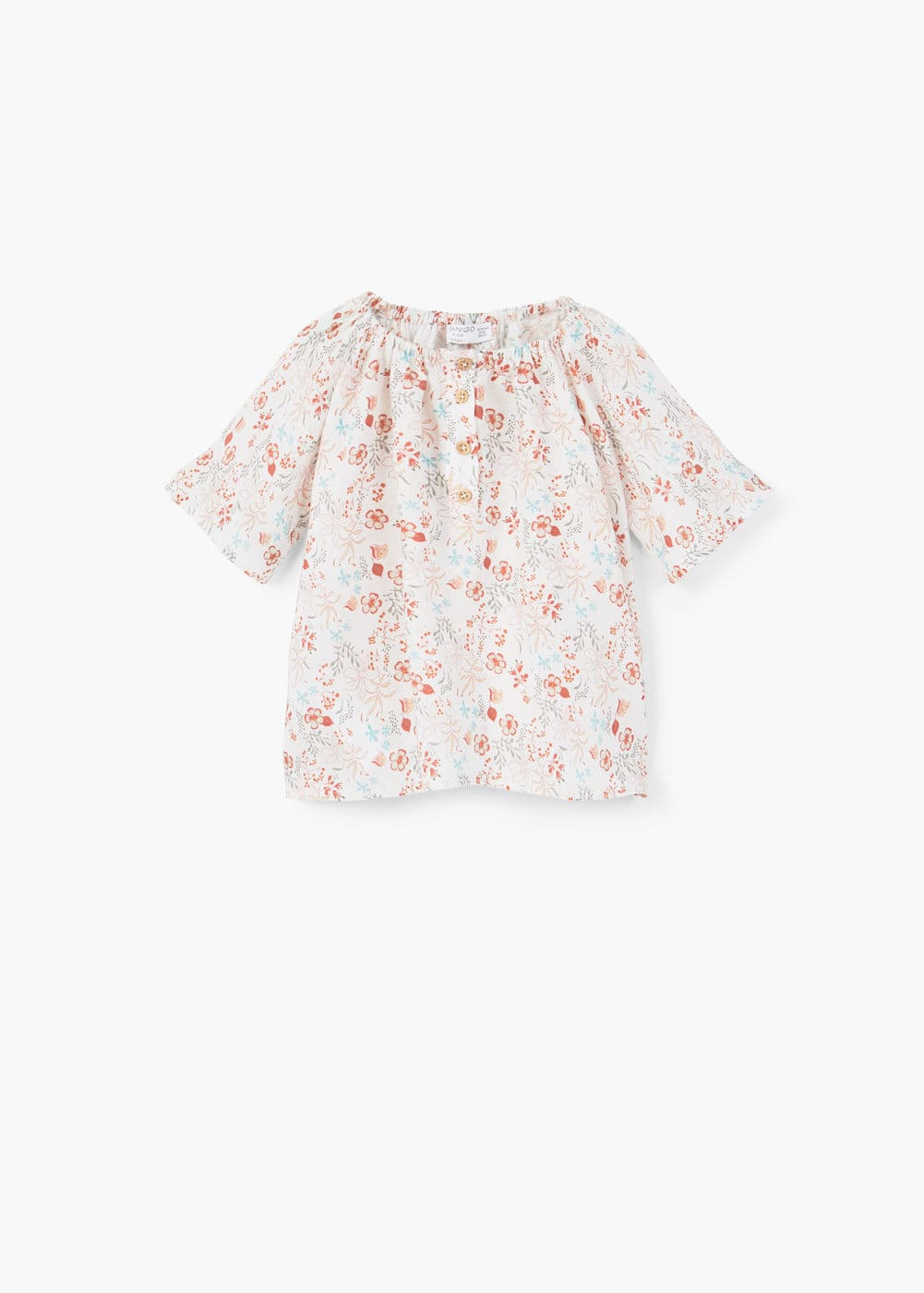 Flowy off-shoulder blouse | MANGO KIDS