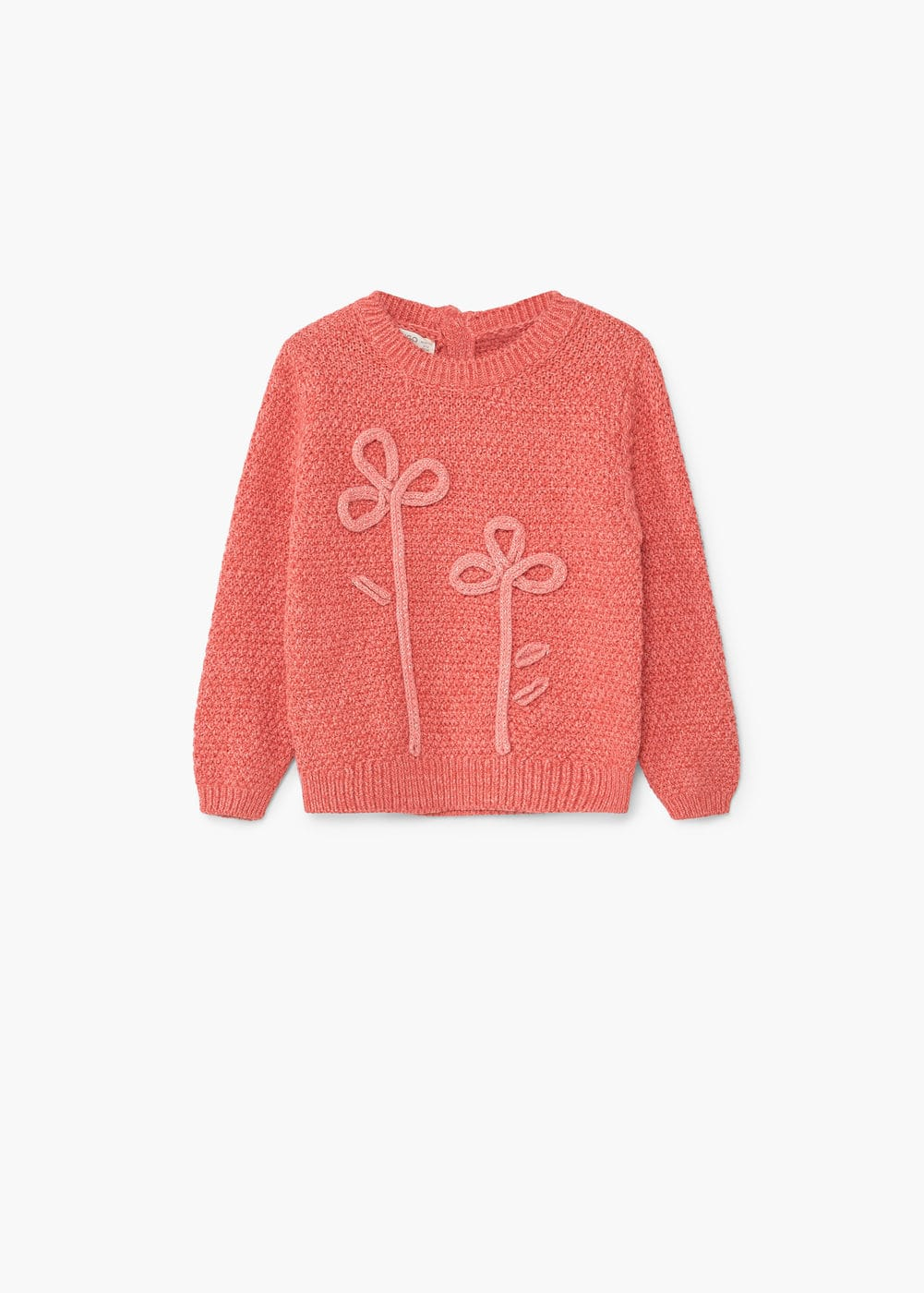 Embroidered cotton sweater | MANGO KIDS