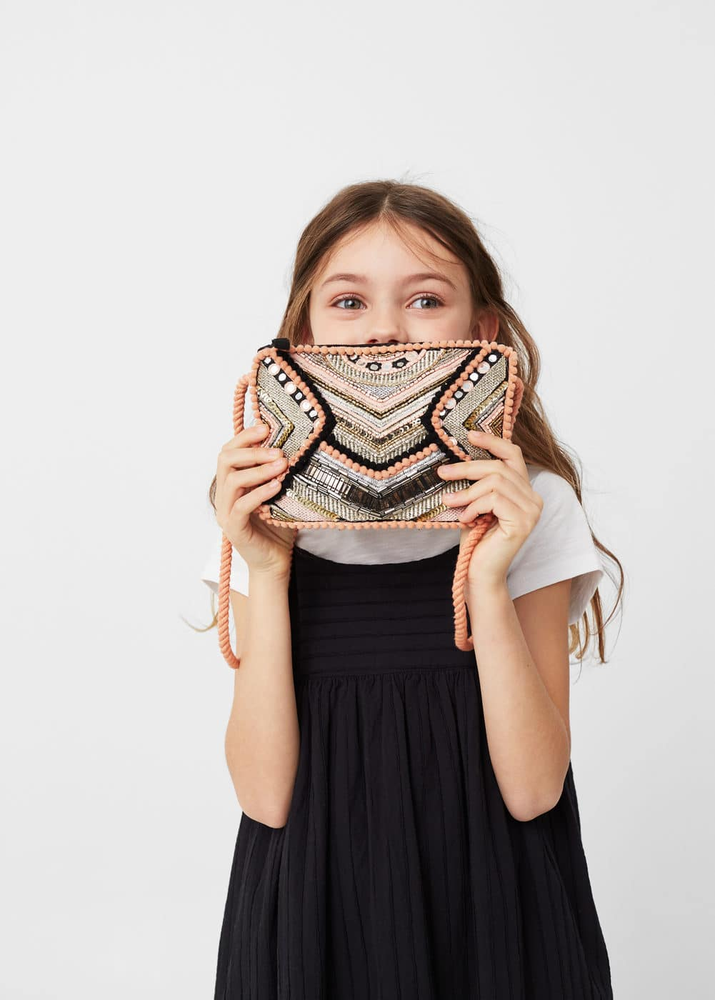 Beaded cross-body bag | MANGO KIDS