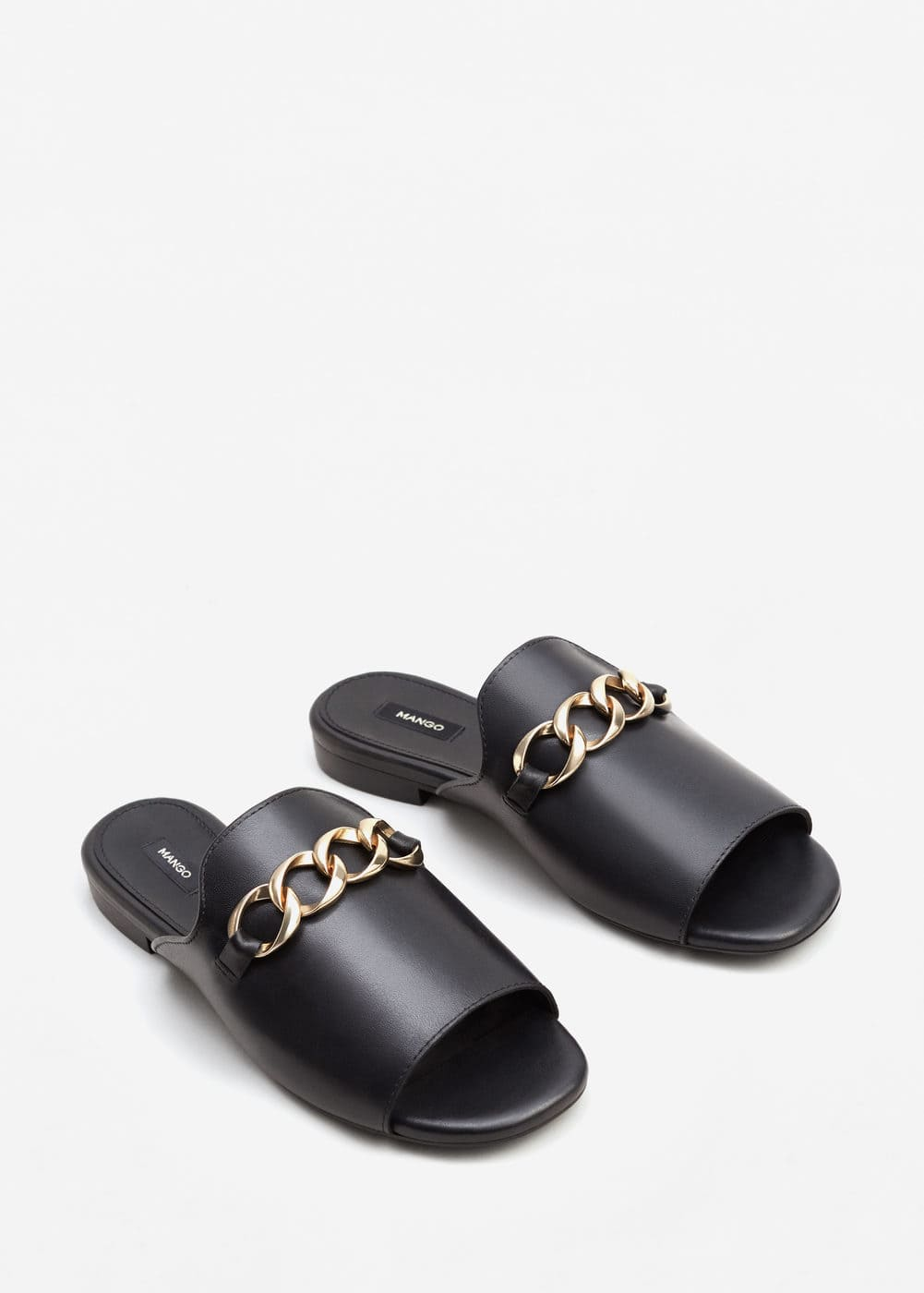 Links chain leather sandals | MNG