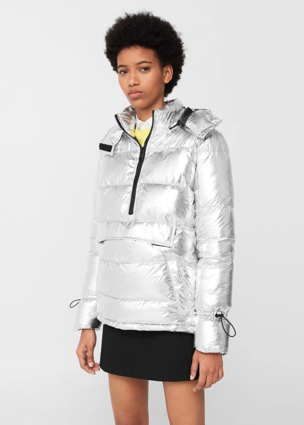 Metallic puffer jacket | MANGO