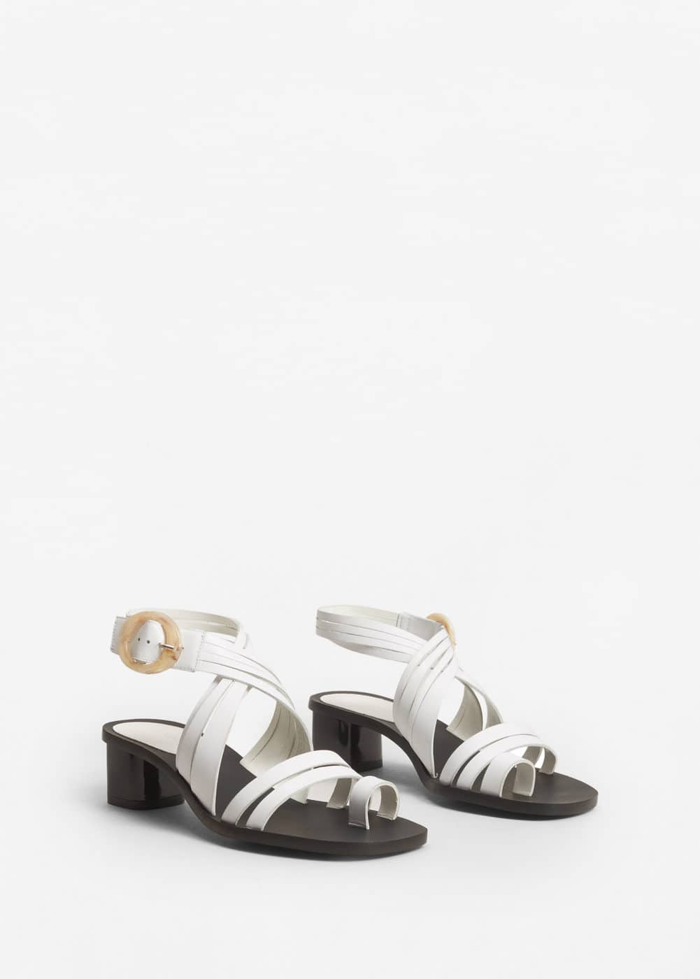 Leather strap sandals | MANGO