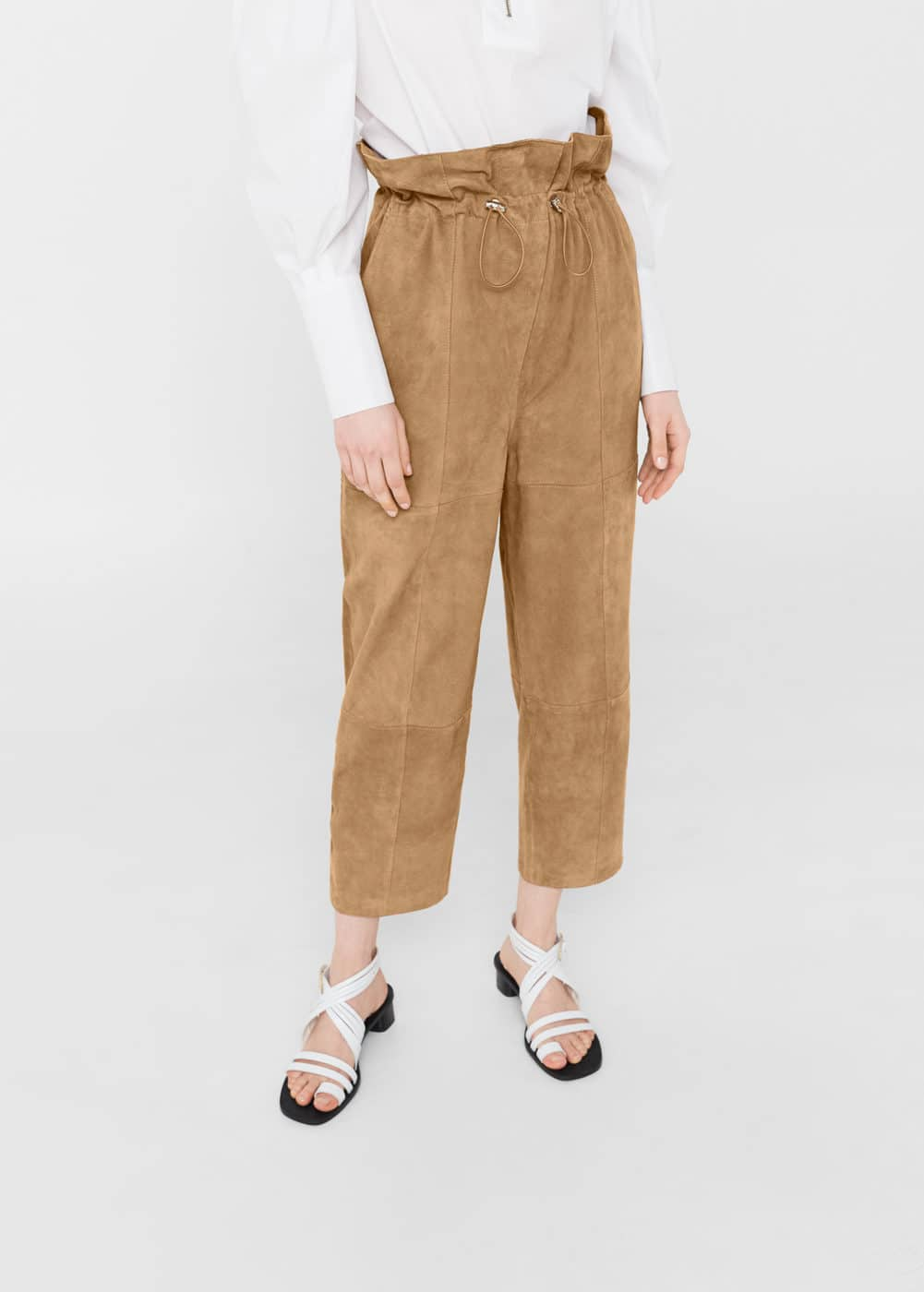 Suede trousers | MANGO