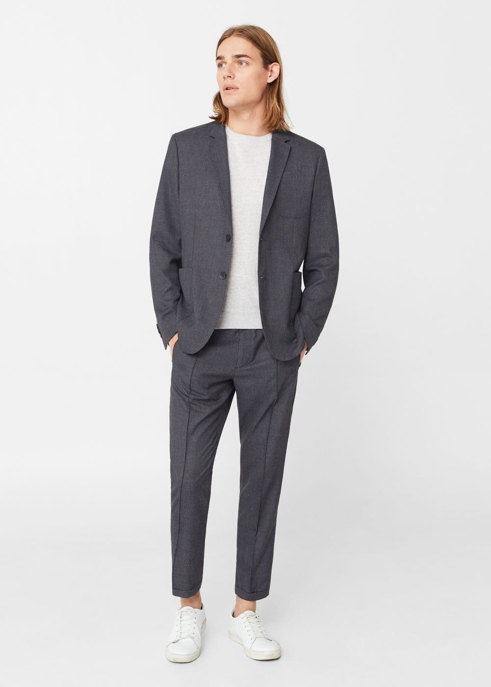 Slim-fit unstructured suit blazer | MANGO