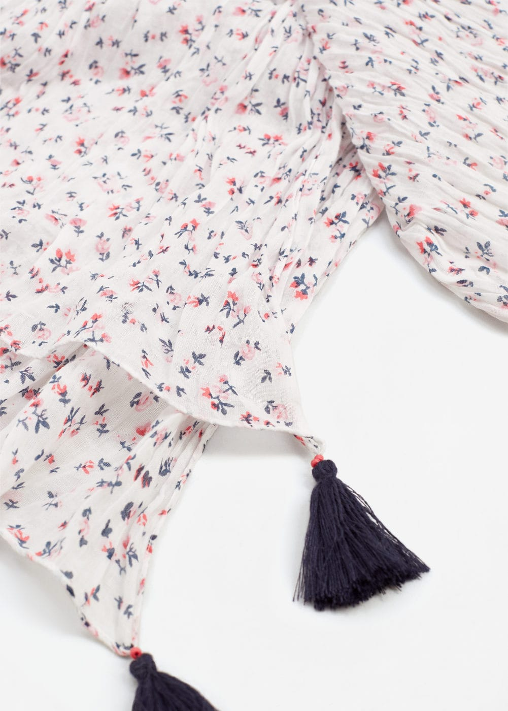 Floral cotton scarf | MANGO KIDS