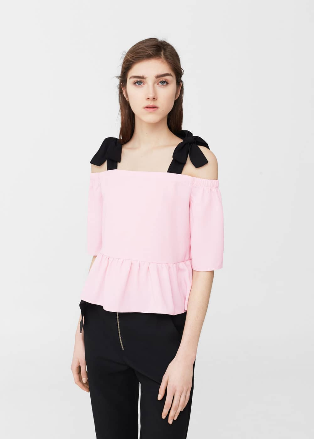 Blusa off-shoulder | MANGO