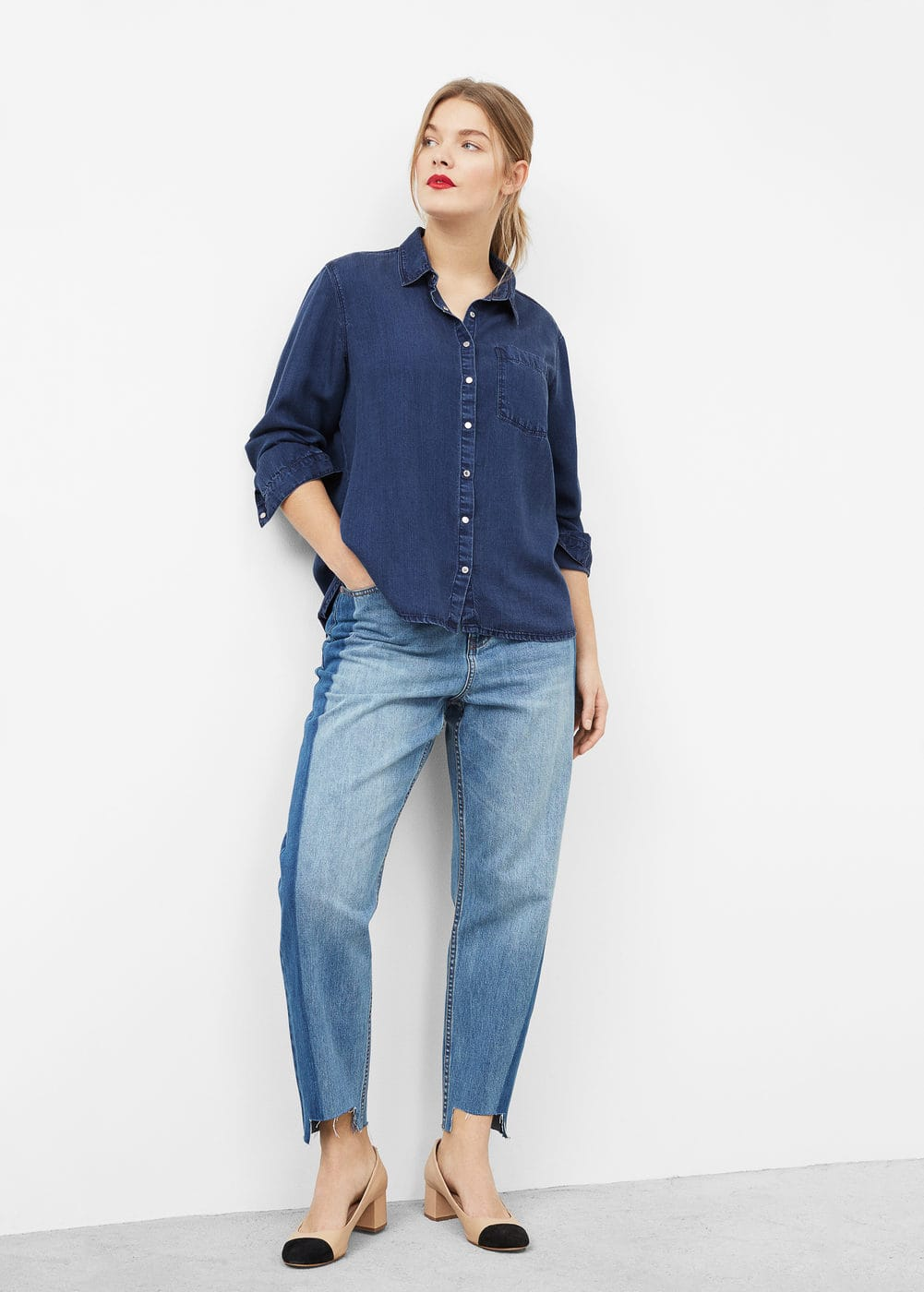 Dark denim shirt | MANGO