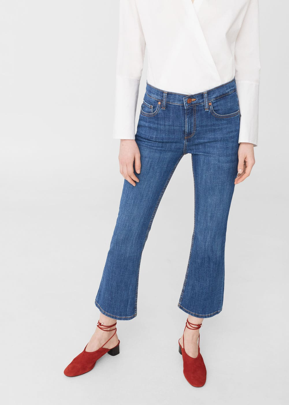 Flare trumpet jeans | MANGO