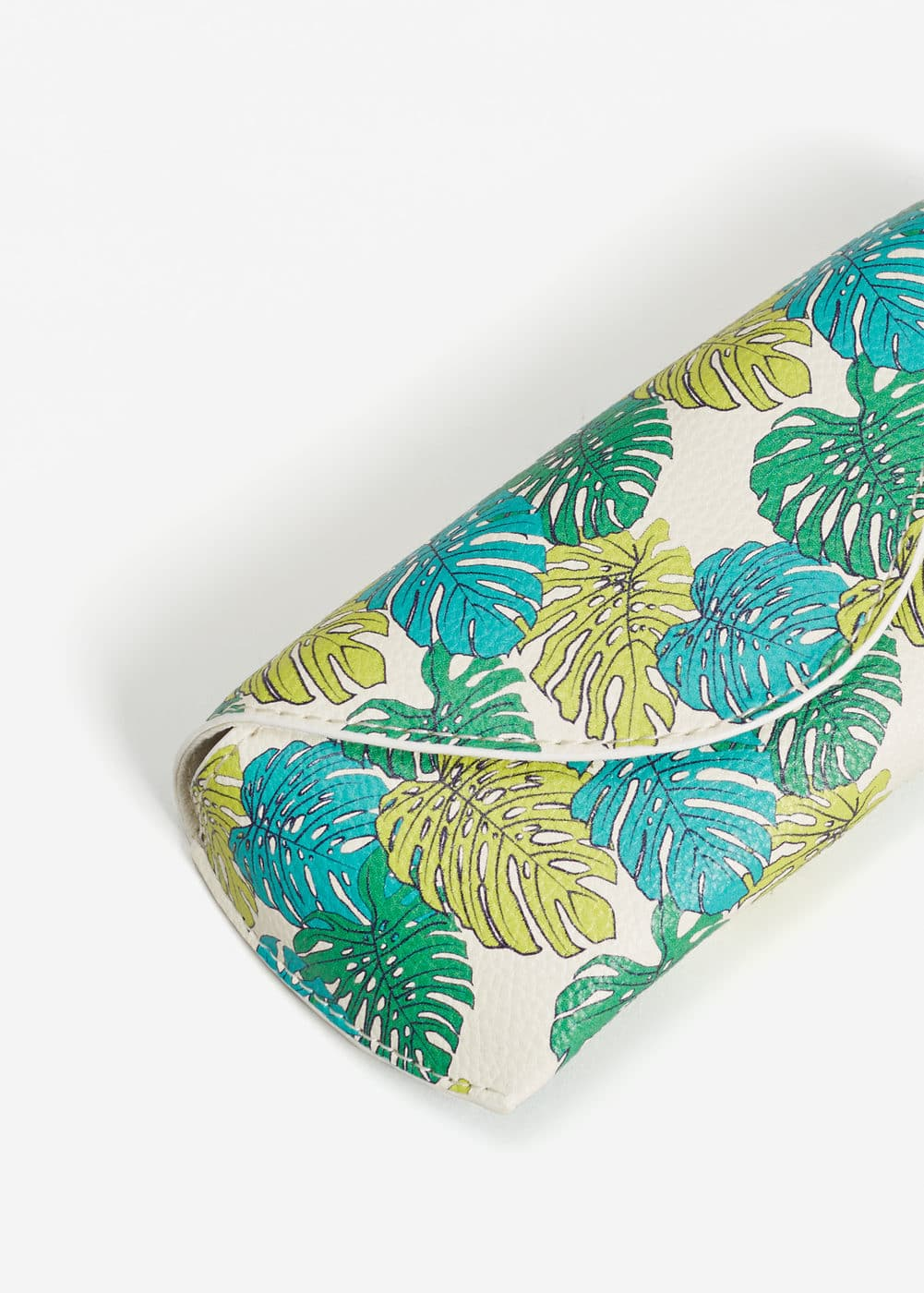 Leaves print glasses case | MANGO