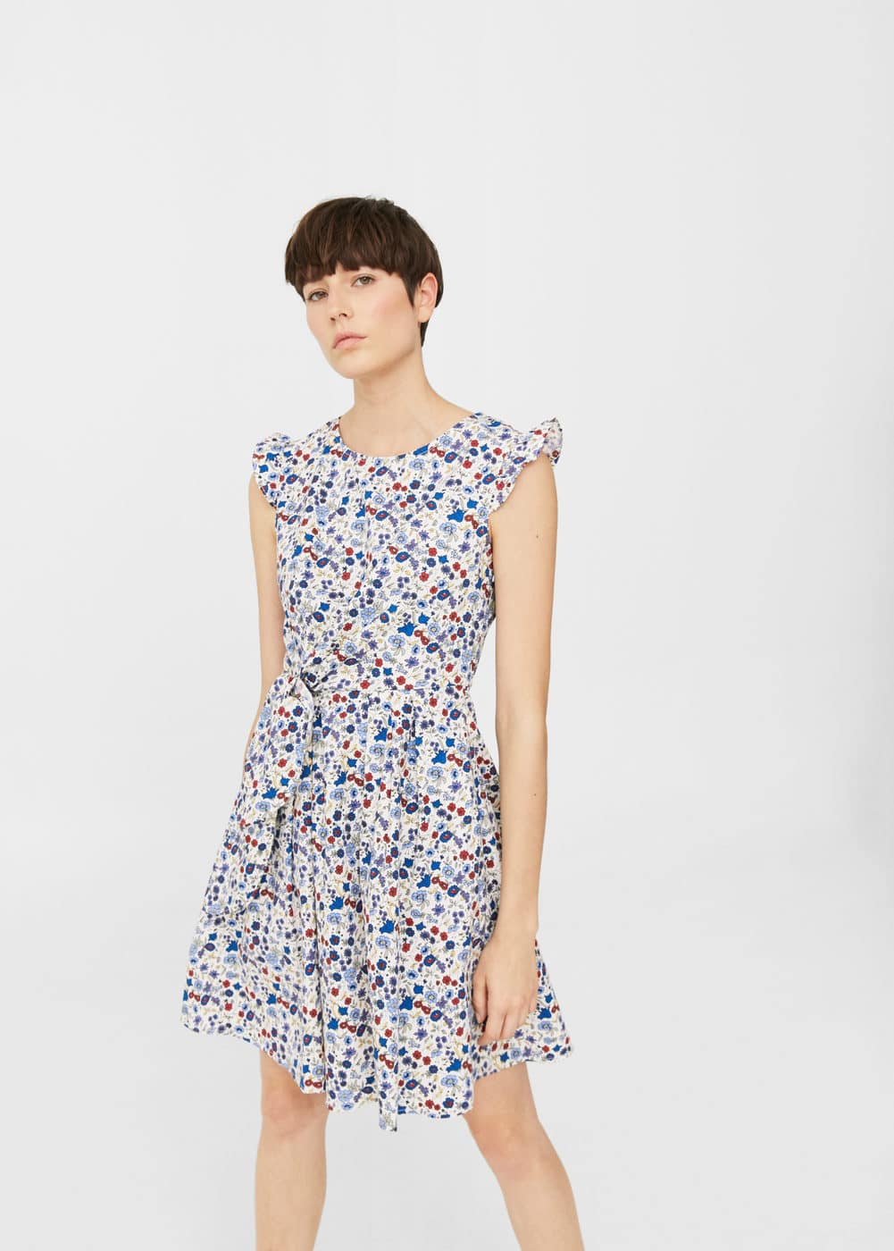 Printed bow dress | MNG