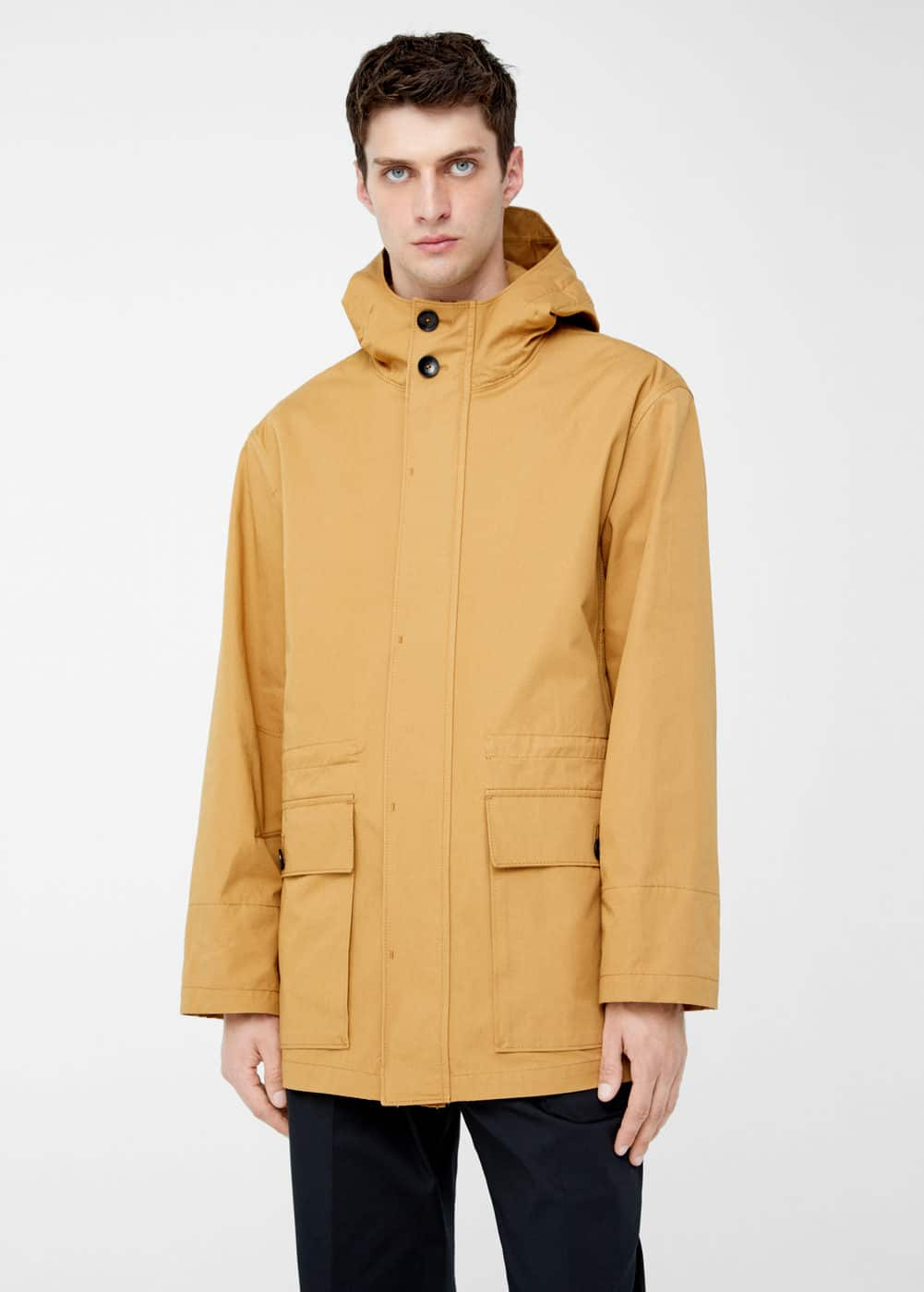 Hooded cotton parka | MANGO MAN