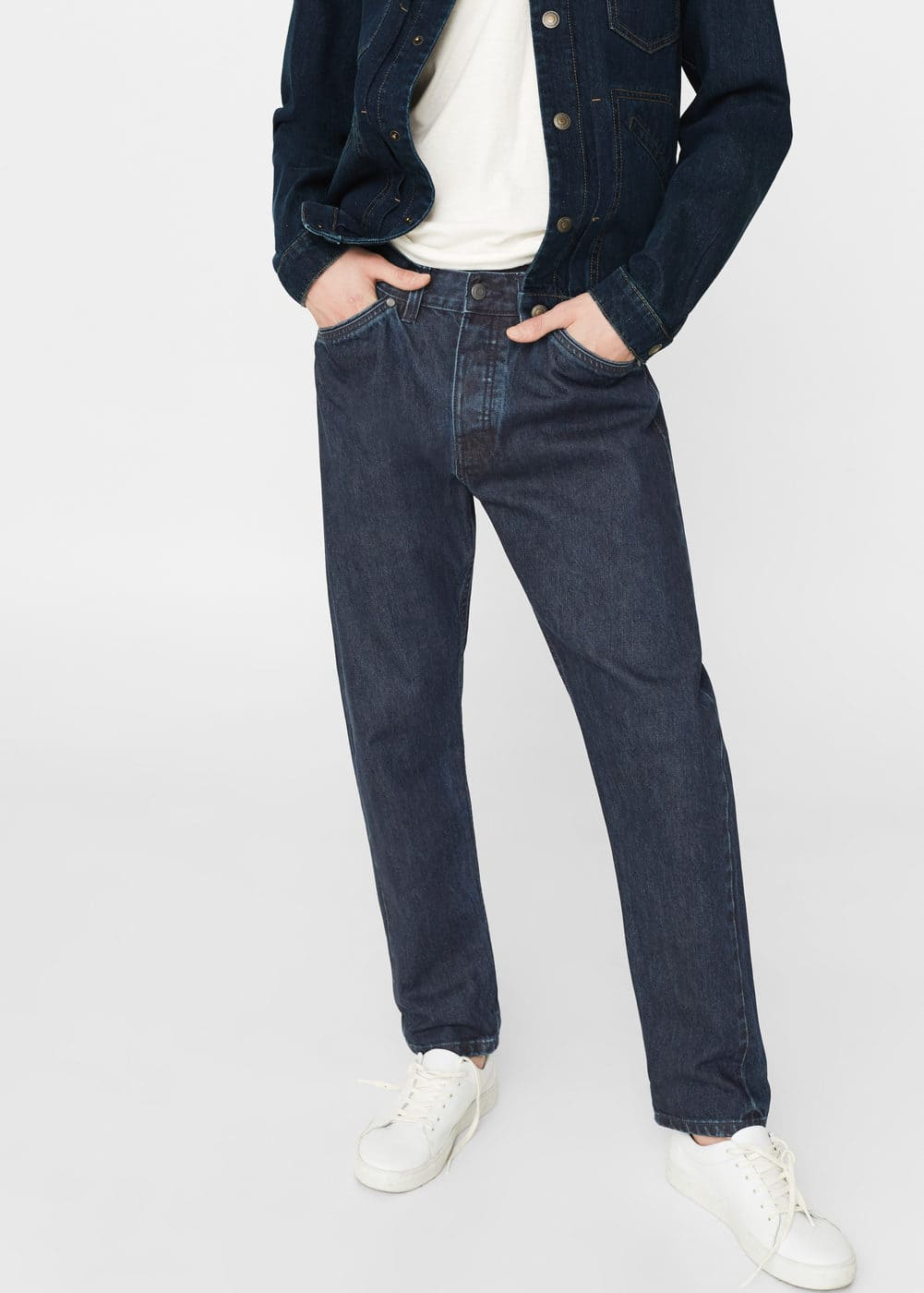 Straight-fit selvedge xavi jeans | MANGO MAN