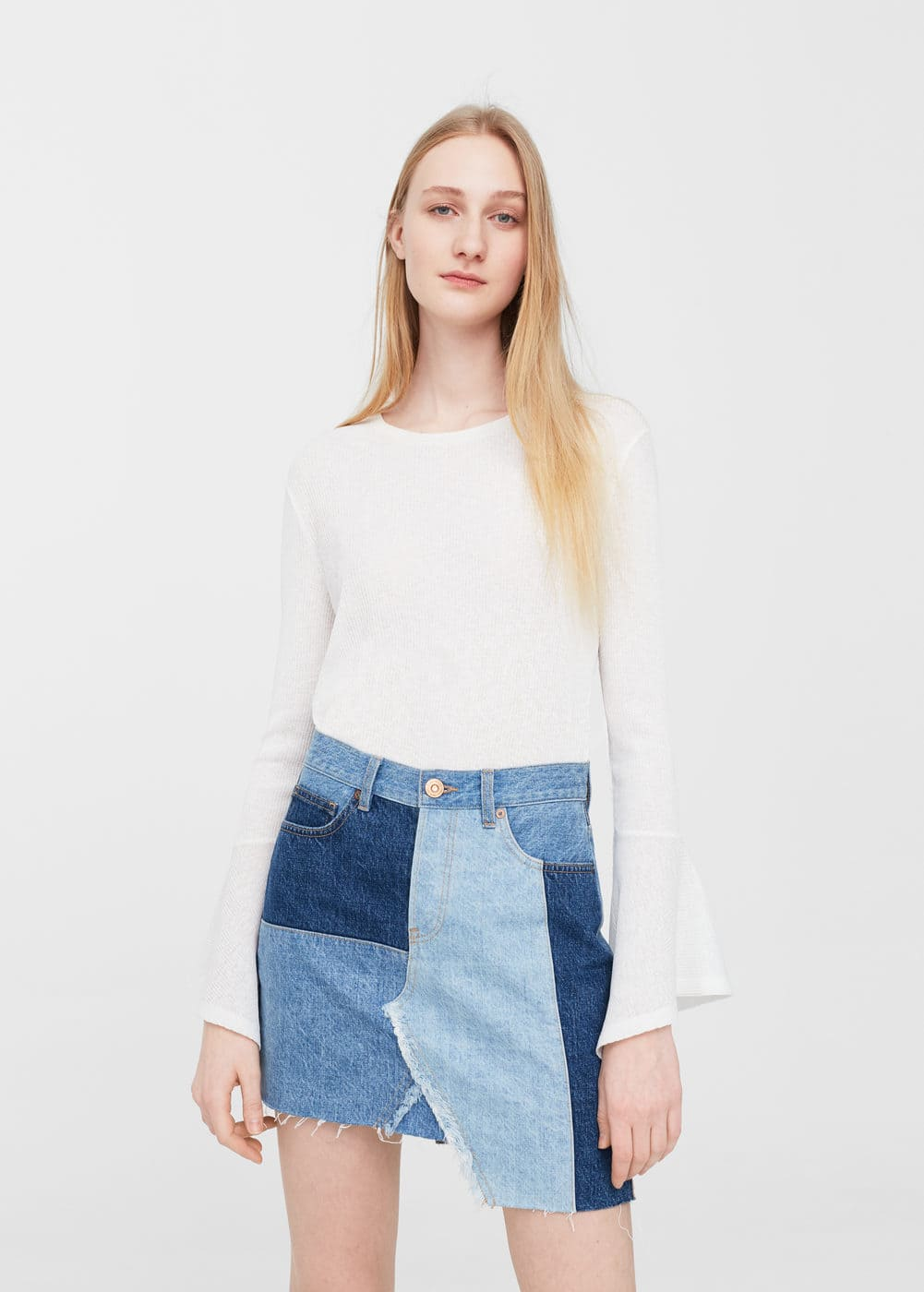Pildiotsingu Triple wash denim skirt tulemus