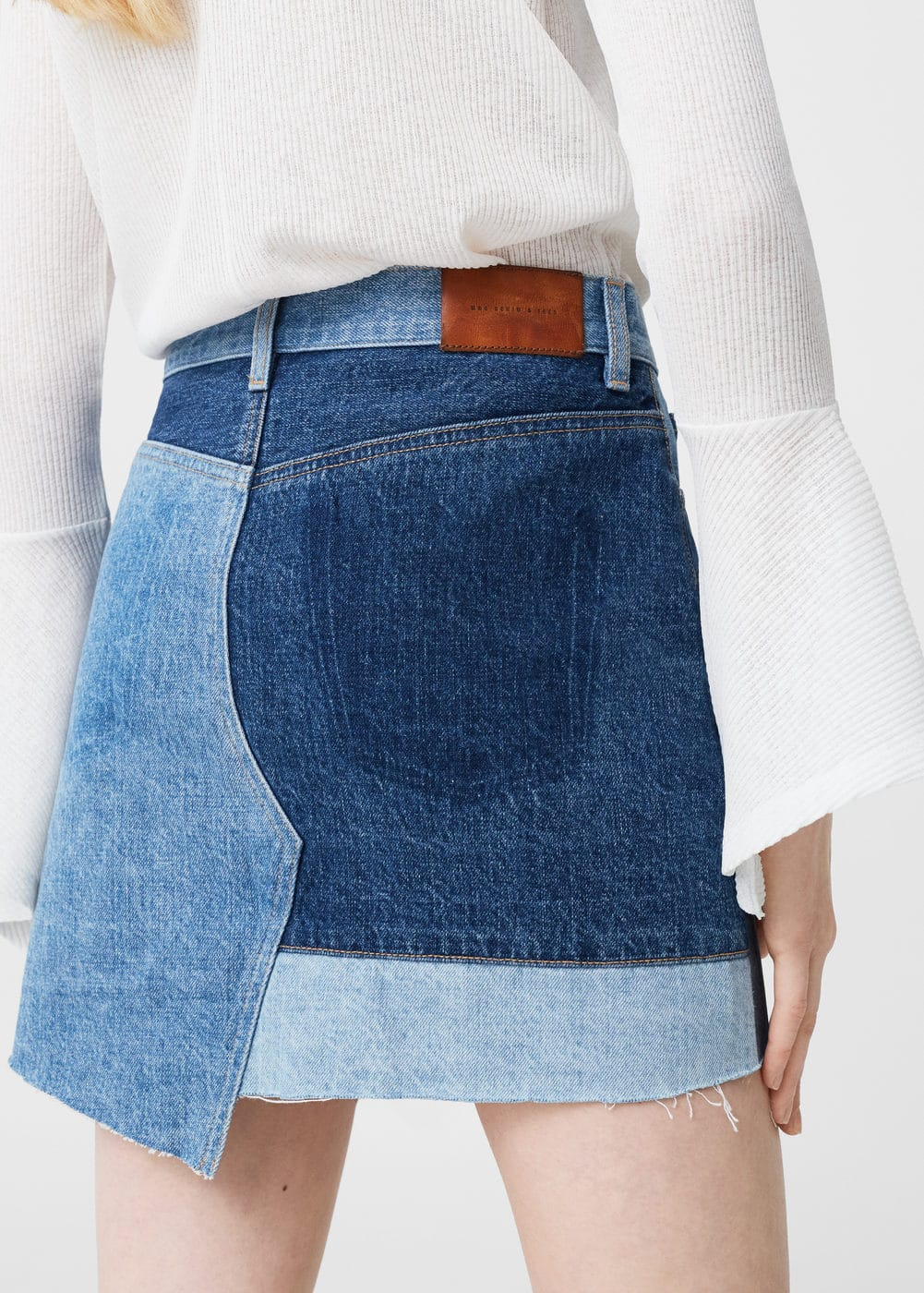 Triple wash denim skirt | MANGO