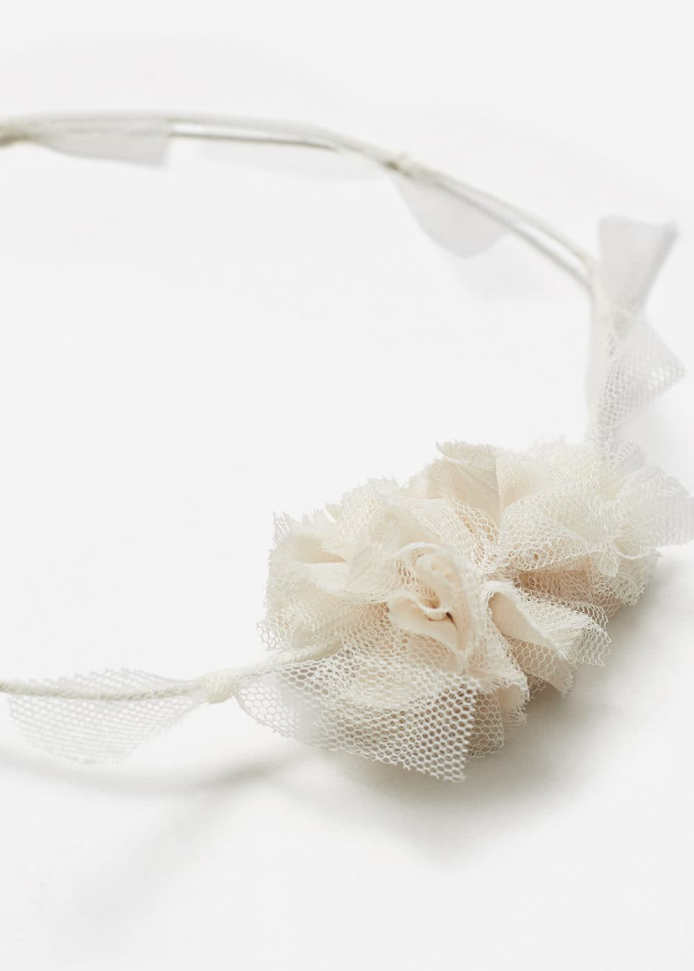 Chiffon flower hairband | MANGO