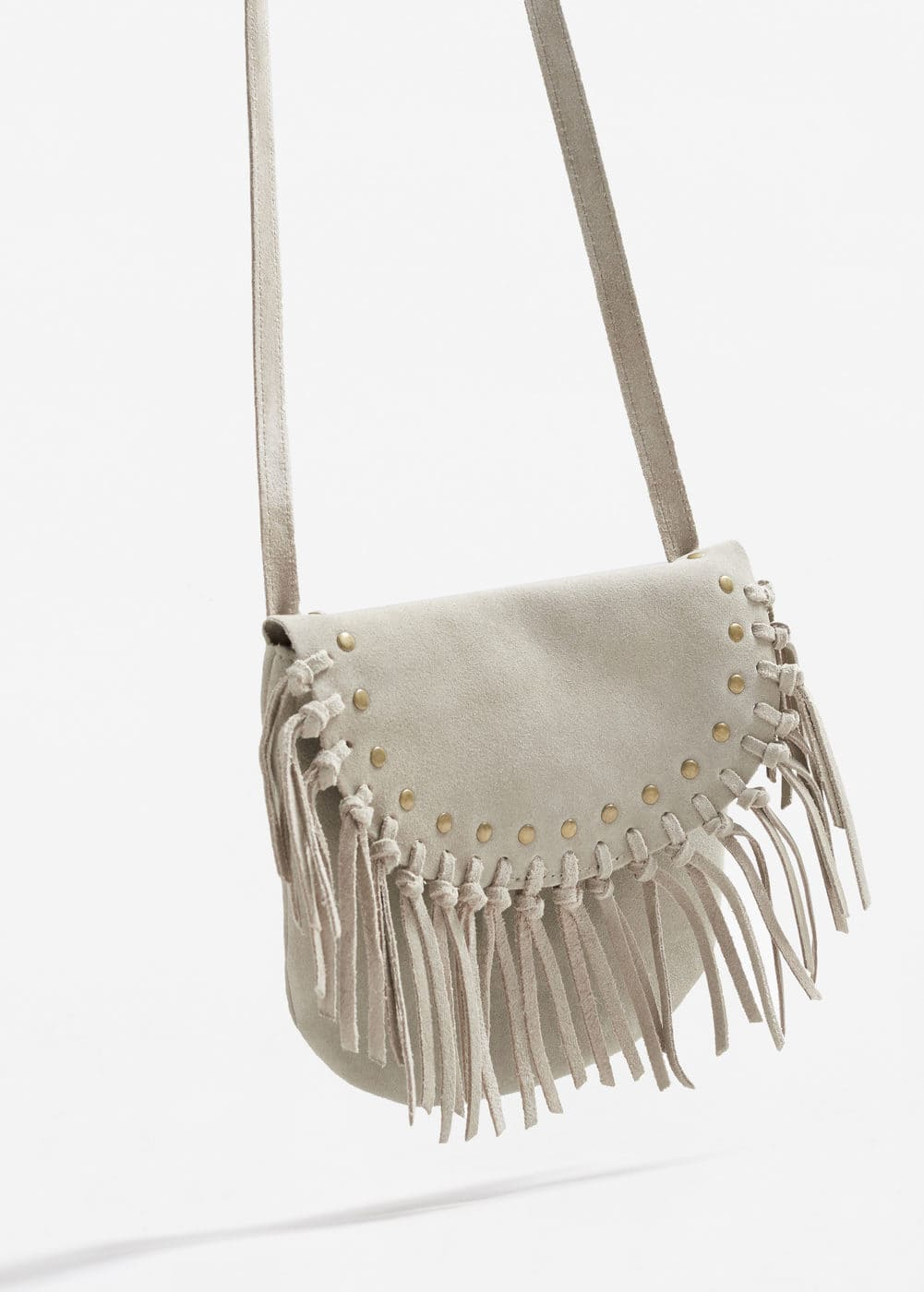 Fringe leather bag | MANGO KIDS