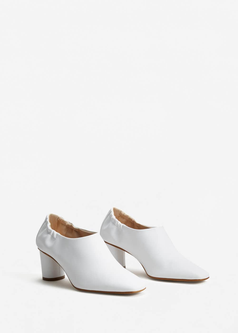 Leather boot-style shoes | MANGO