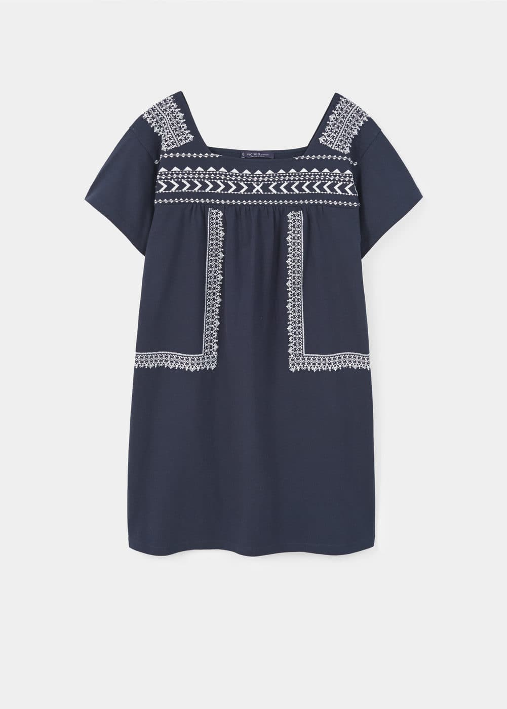 Embroidered detail dress | MANGO