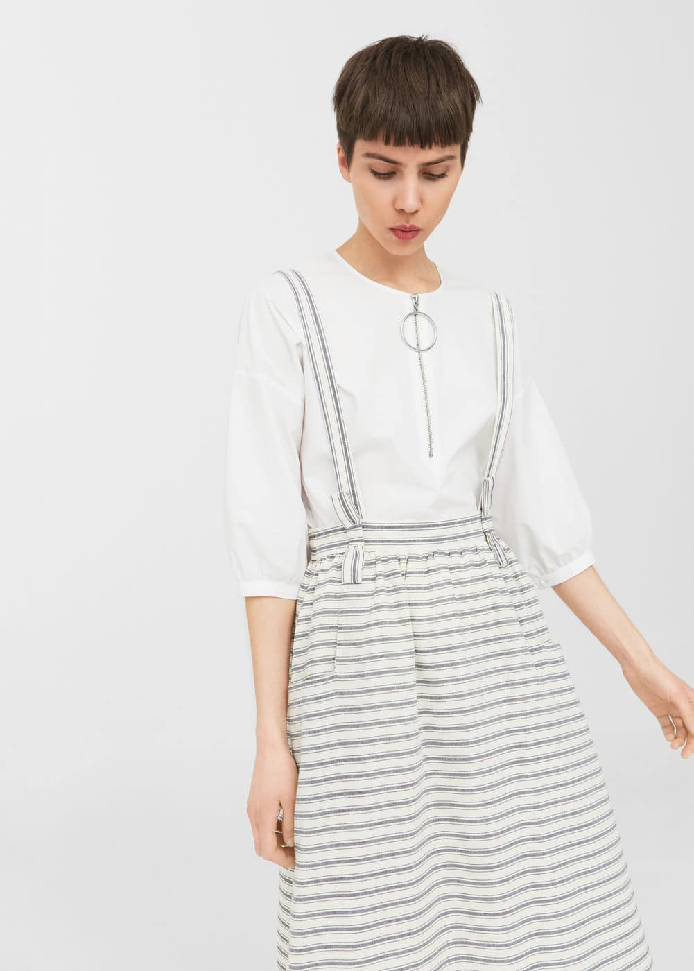 Striped pinafore dress | MNG