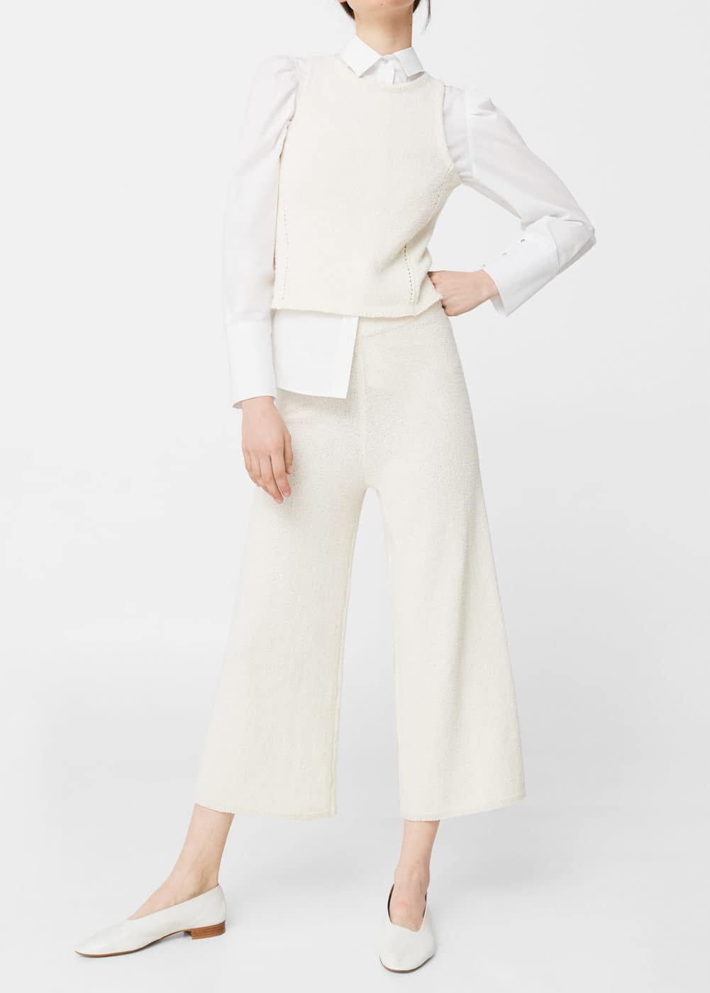 Cotton crop trousers | MANGO