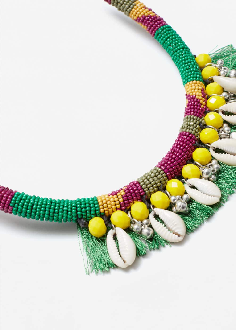 Shells bead necklace | MANGO