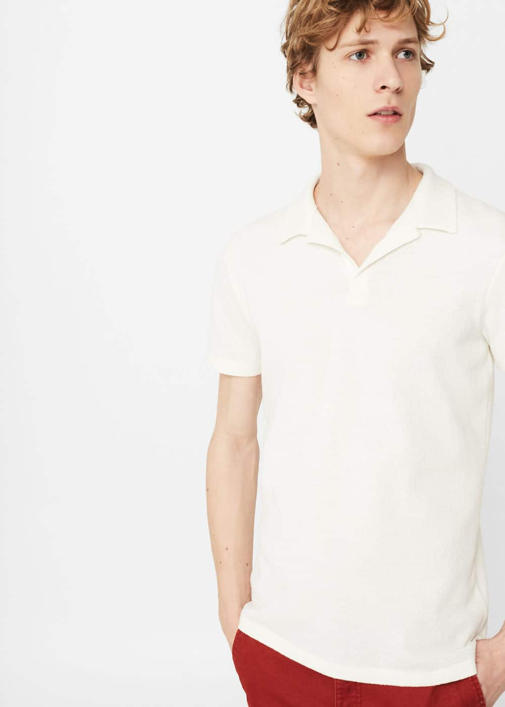 Fine-knit polo shirt | MANGO