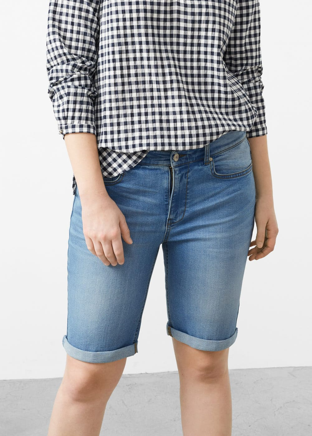 Short denim medio | MANGO