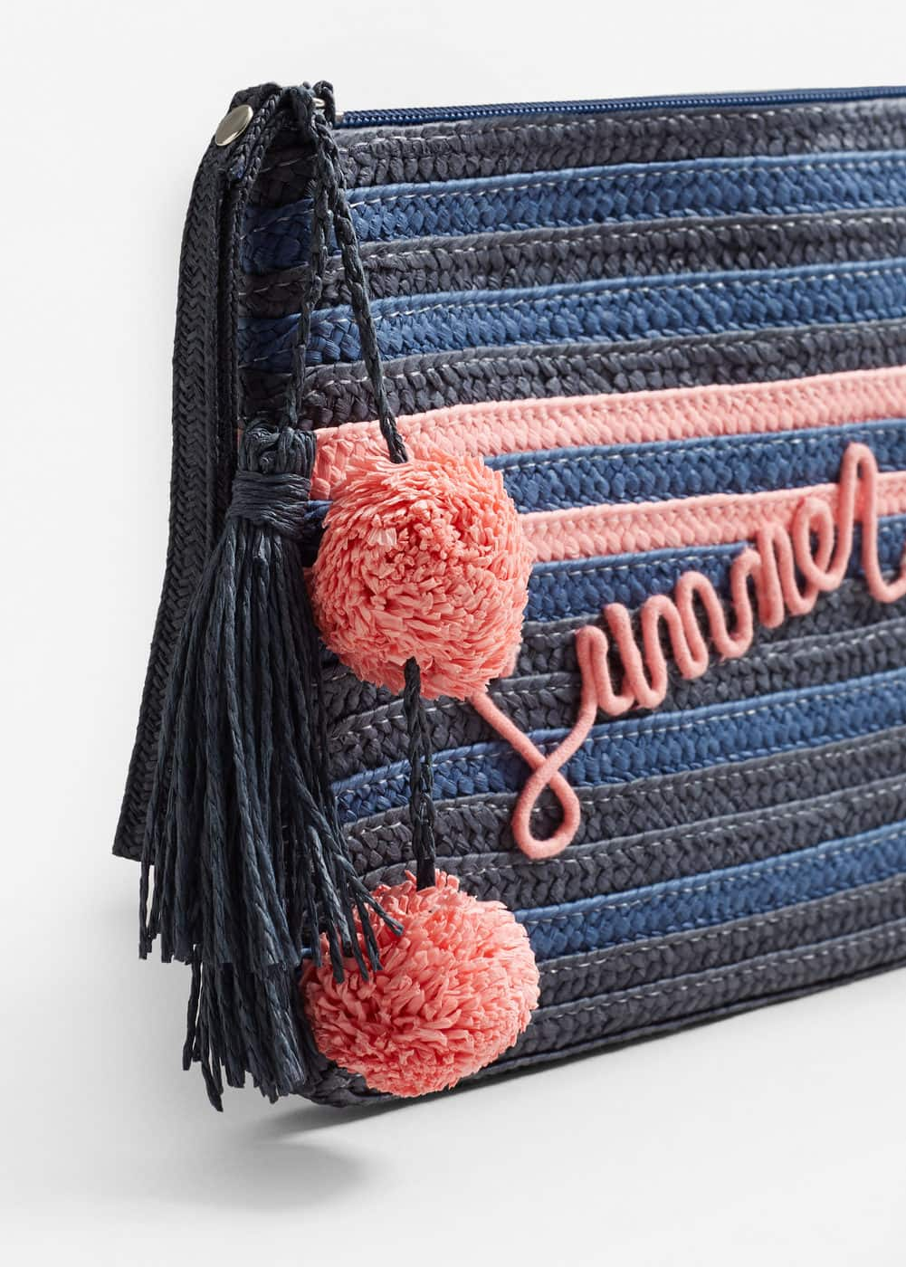Straw cosmetic bag | MANGO