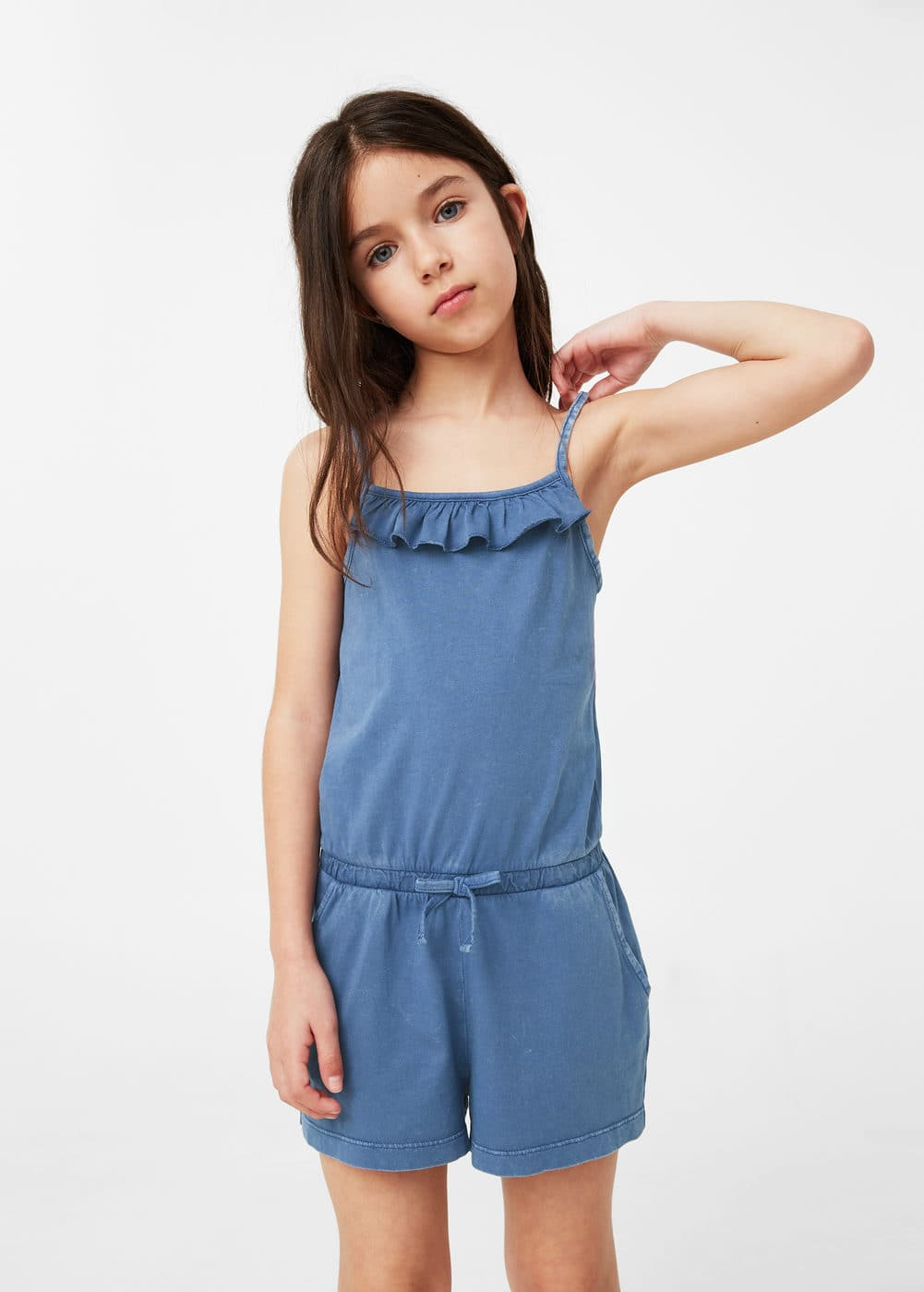 Cotton short jumpsuit | MANGO KIDS