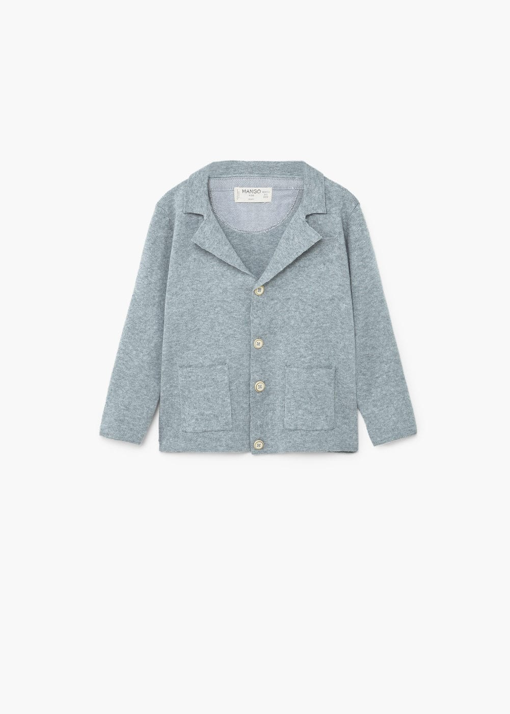 Pocket cotton cardigan | MANGO