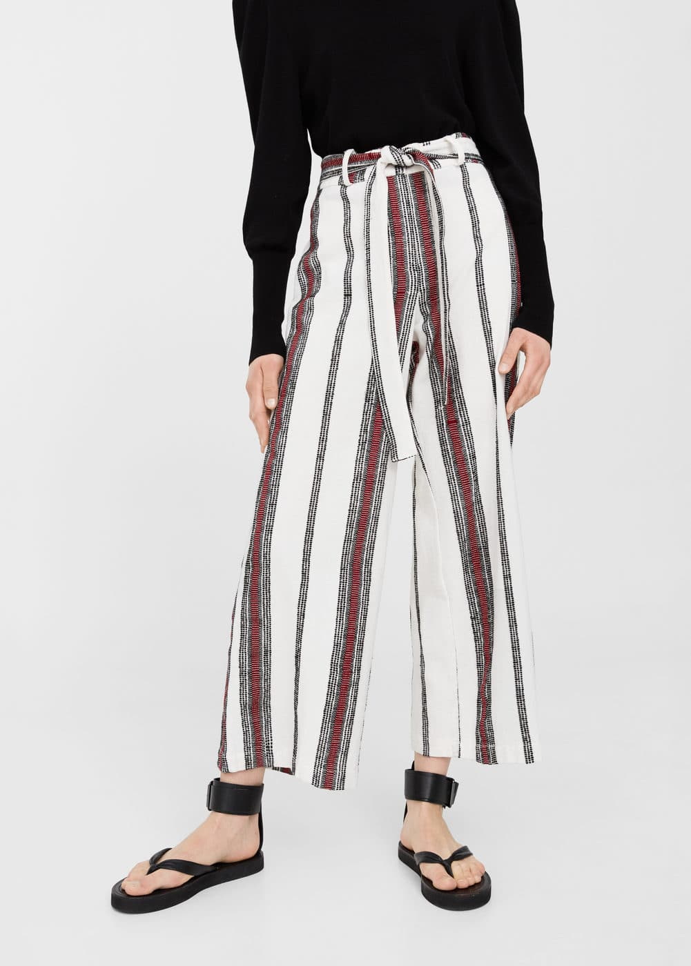 Striped cotton trousers | MNG