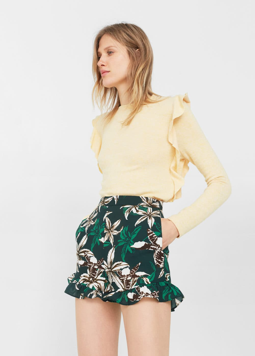 Tropical print shorts | MANGO