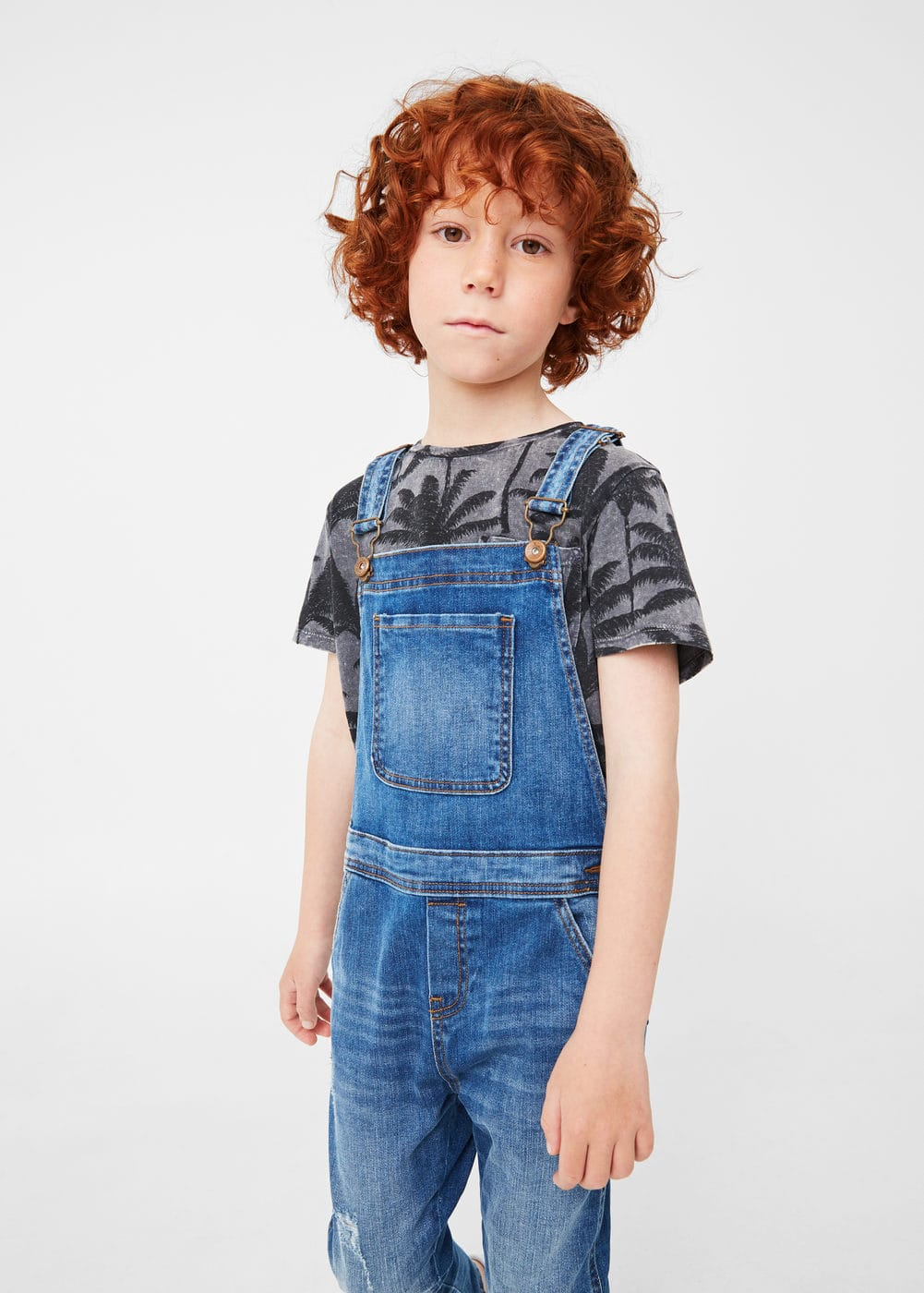 Medium denim jumpsuit | MANGO KIDS