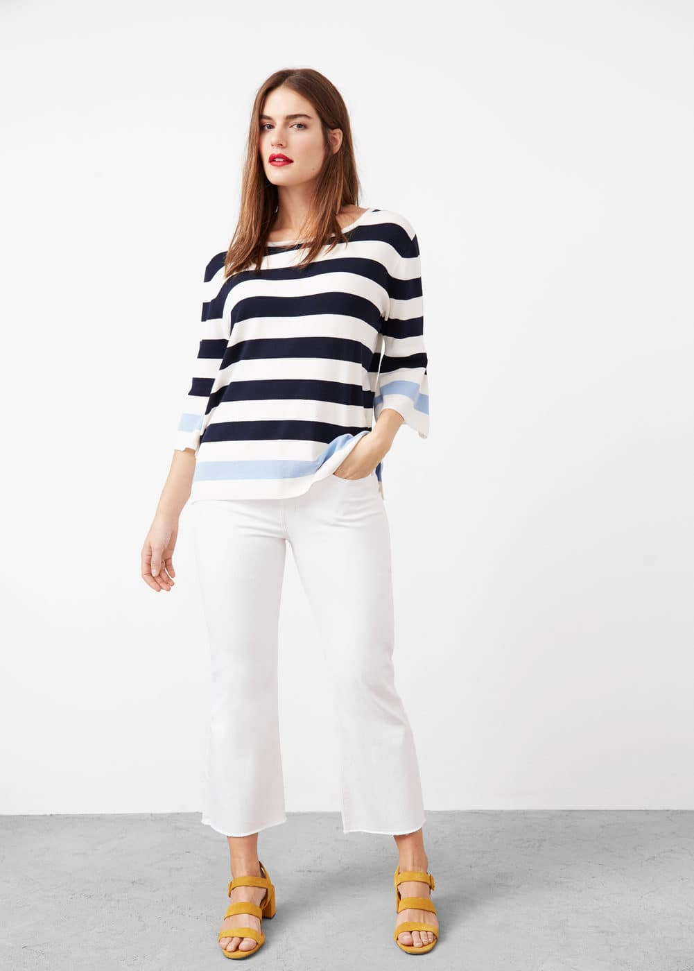 Striped rib sweater | VIOLETA BY MANGO
