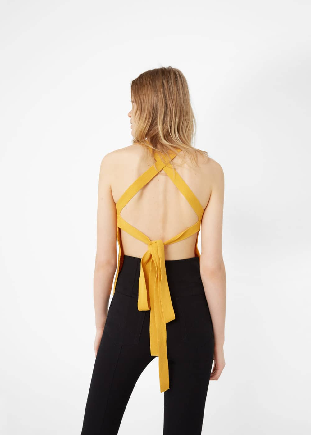 Wrap back top | MANGO