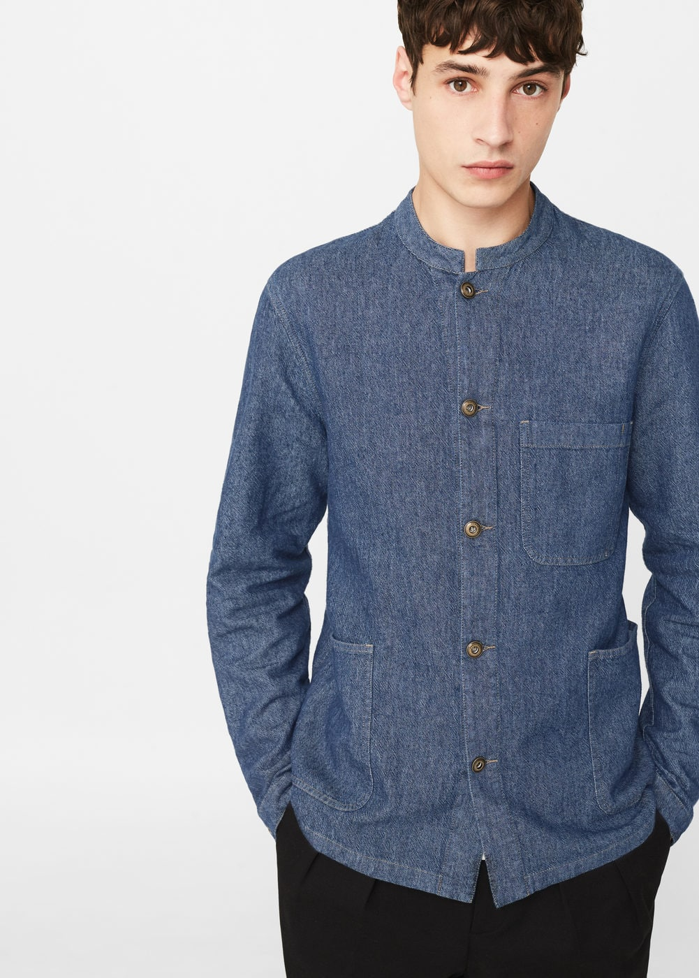 Medium denim overshirt | MANGO MAN