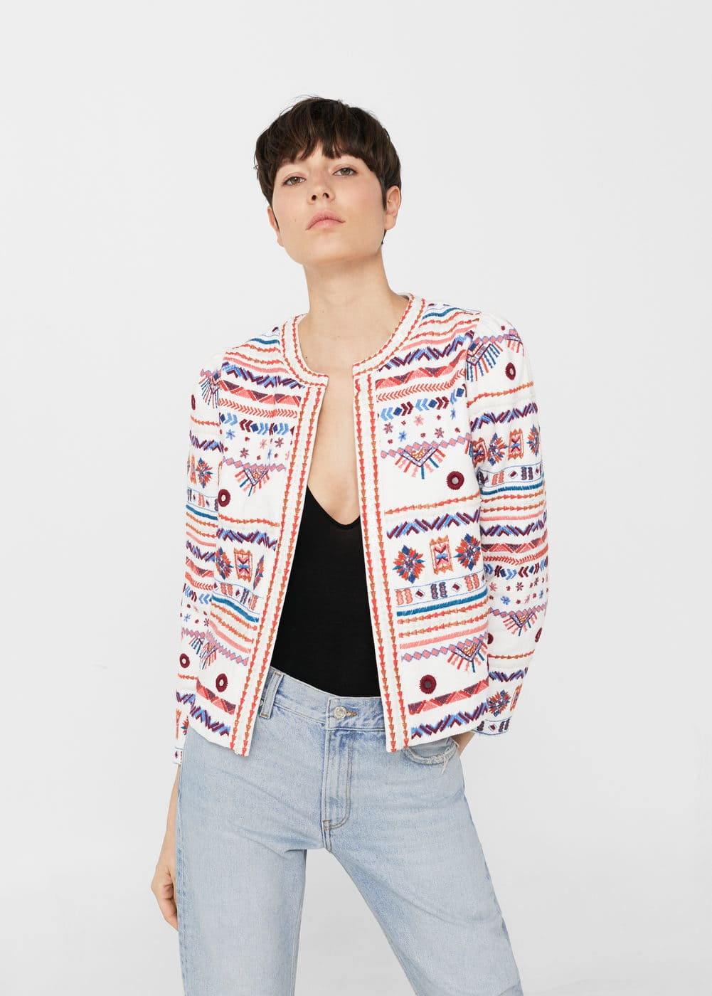 Mirror embroidery jacket | MANGO