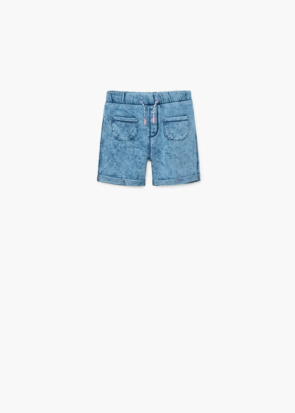 Washed cotton-blend bermuda shorts | MANGO KIDS