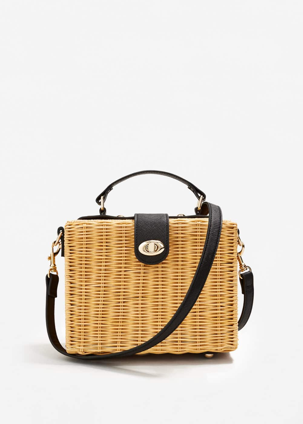 Bamboo basket bag | MANGO