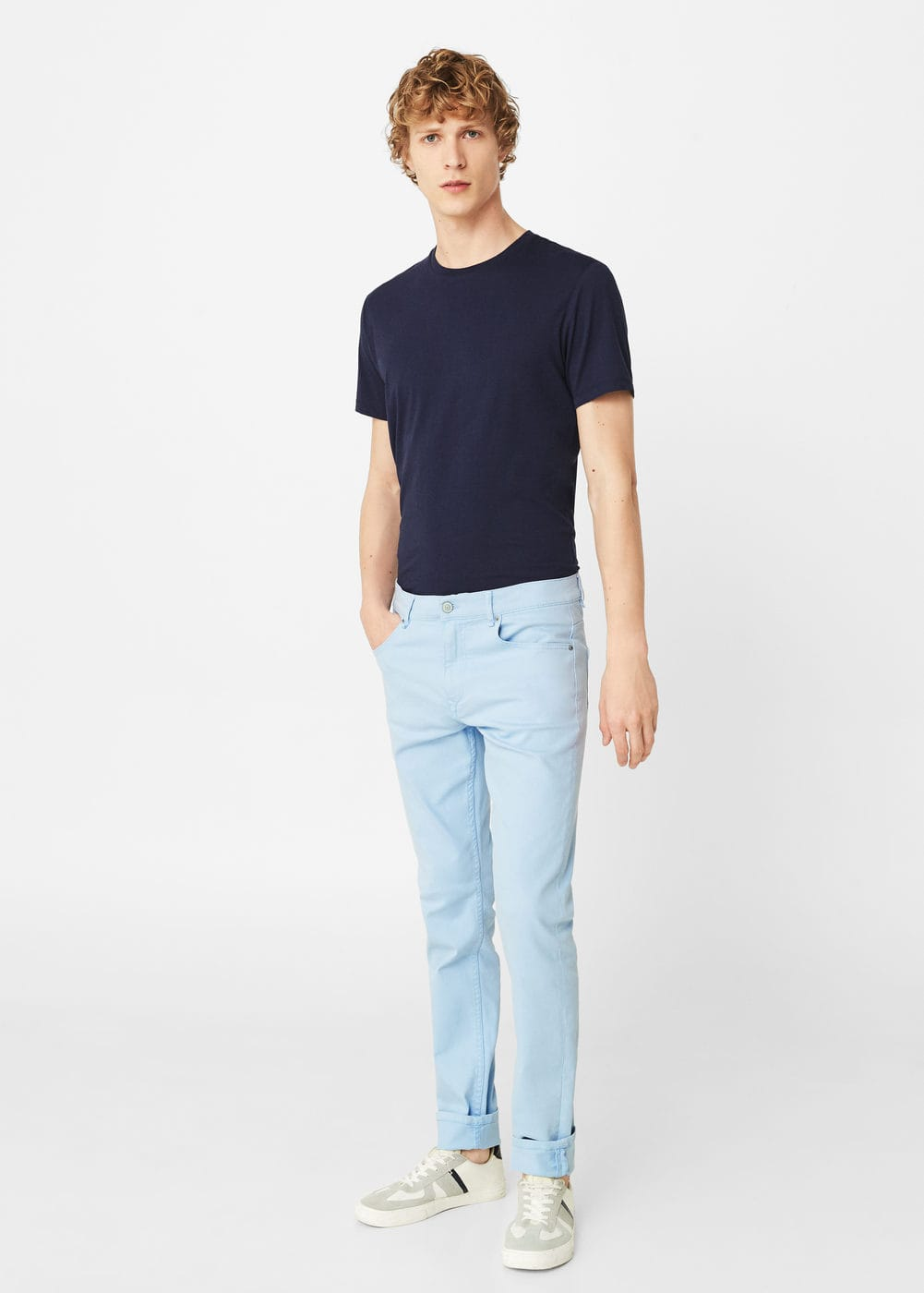 Slim-fit blue alex jeans | MANGO MAN