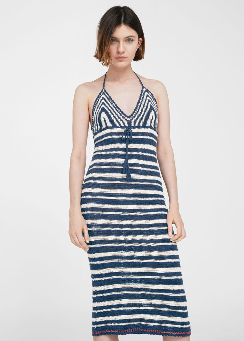 Striped crochet dress | MANGO