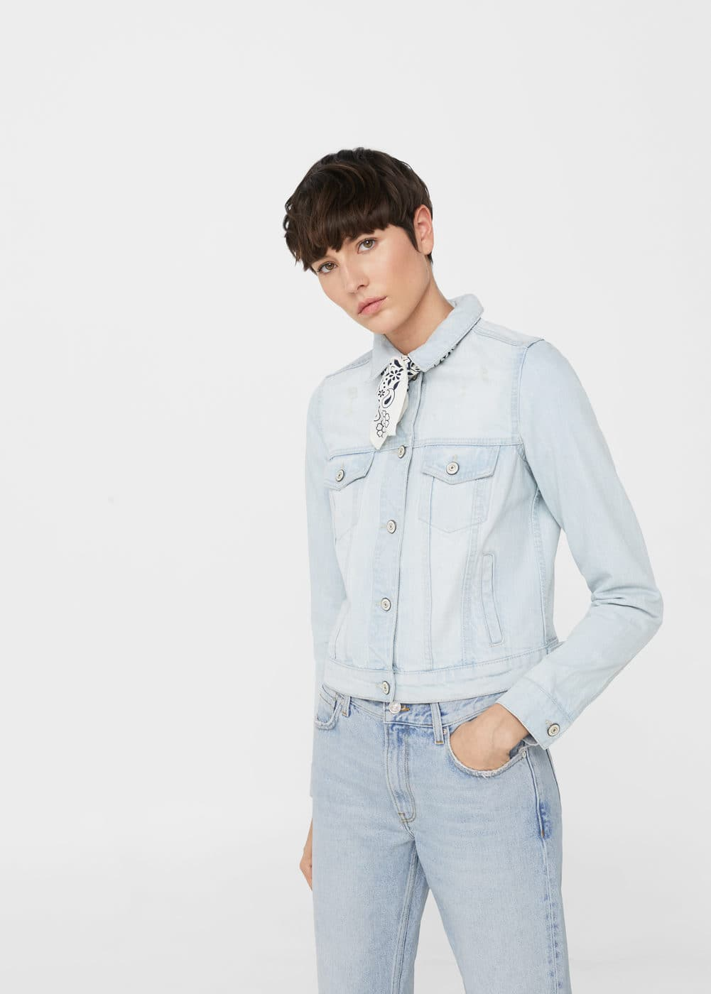 Bandana denim jacket | MANGO